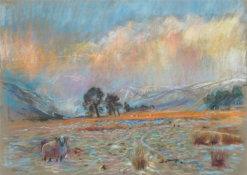 Evening Storm Glen Clova_Mounted