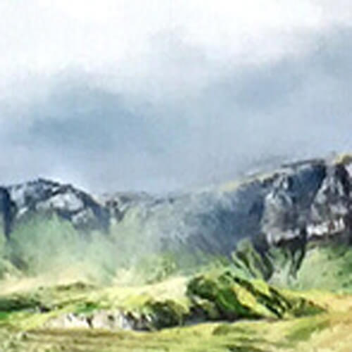 The Ridge and the Storr Framed by Fiona Haldane_