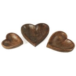 Mango wood heart dish