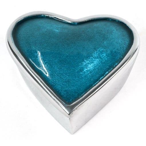 Aluminium Heart Box-Blue