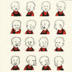 Oor Wullie Faces card by John Patrick Reynolds