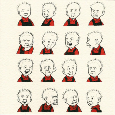 Oor Wullie Faces card by John Patrick Reynolds