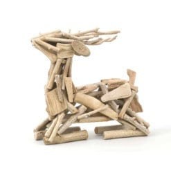 Driftwood Deer Sitting