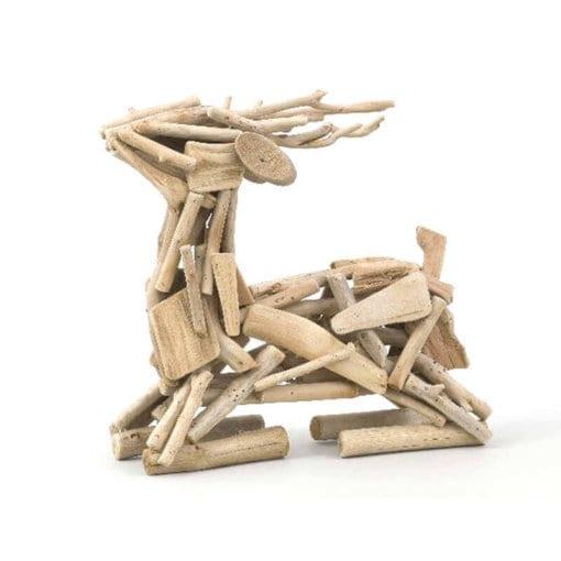 Driftwood Deer Sitting