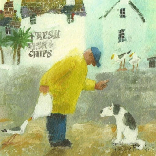 Humorous greetings cards Fish & Chips