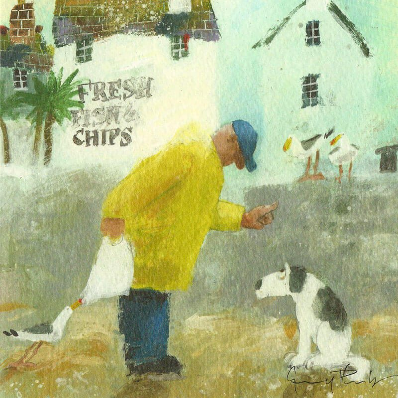 Humorous greetings cards fish chips l the canvas art gallery humorous greetings cards fish chips m4hsunfo