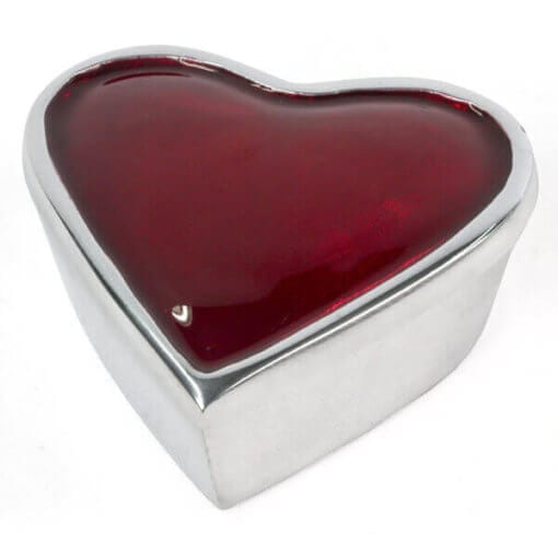 Aluminium Heart Box-Red