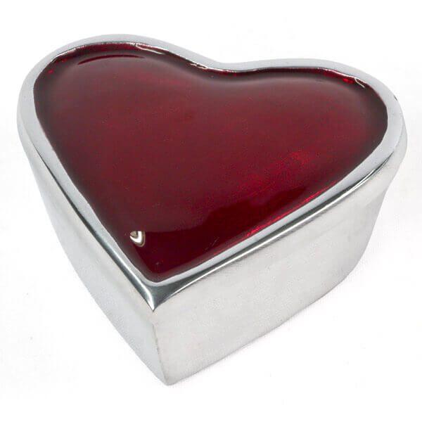 Aluminium Heart Box-Red