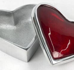 Aluminium Heart Box Red