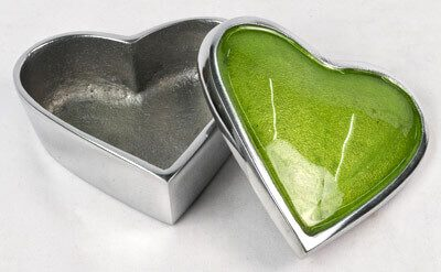 Aluminium Heart Box Green