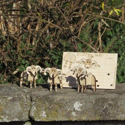 Highland Sheep 3D Pop-up card