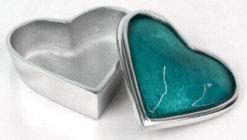 Aluminium Heart Box Blue