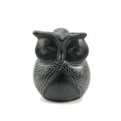 Champagne Grey Signum Owl 7cm