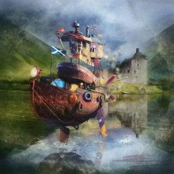 Fishing Boat by Matylda Konecka