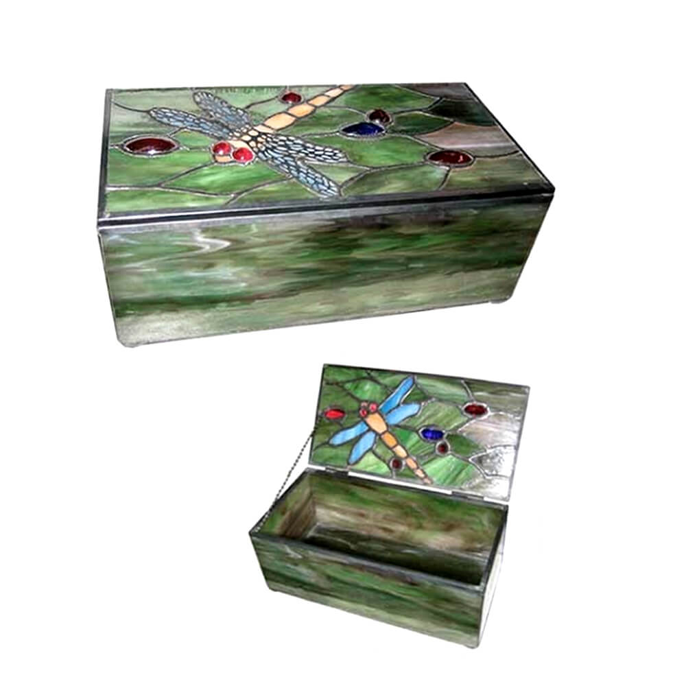 Dragonfly Tiffany Jewellery Box