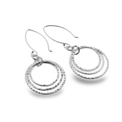 Triple Circular Earrings