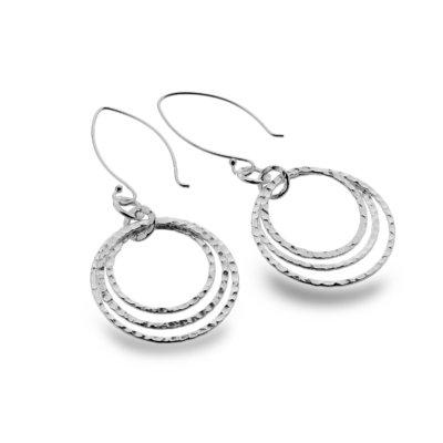 Triple Circular Earrings