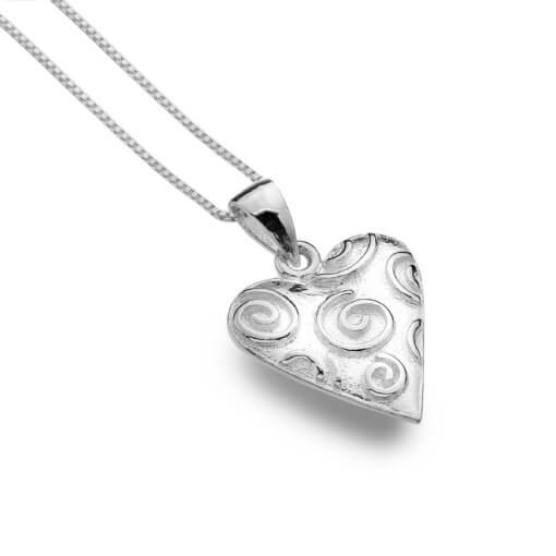 Origins Heart raised spirals necklace