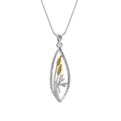 Origins Dragonfly Silver Necklace