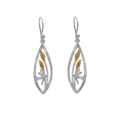 Origins Dragonfly Silver Earrings
