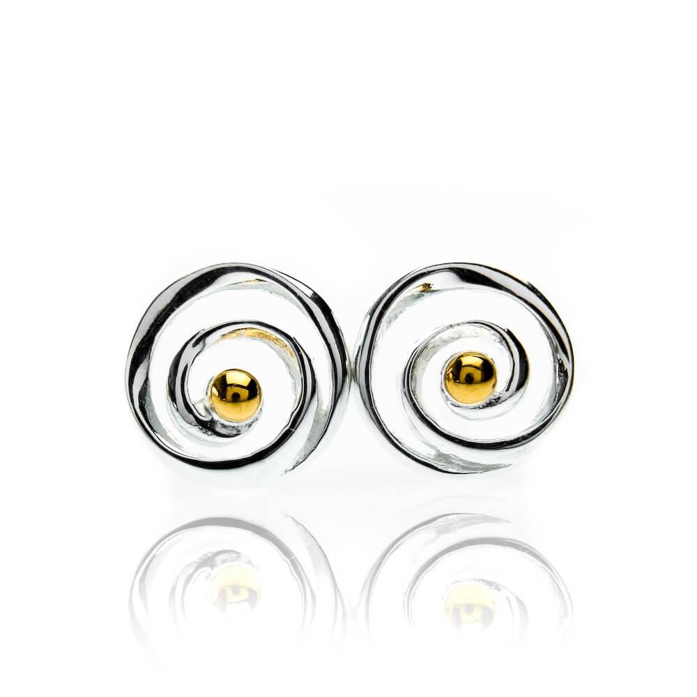 Origins spiral Stud Earrings
