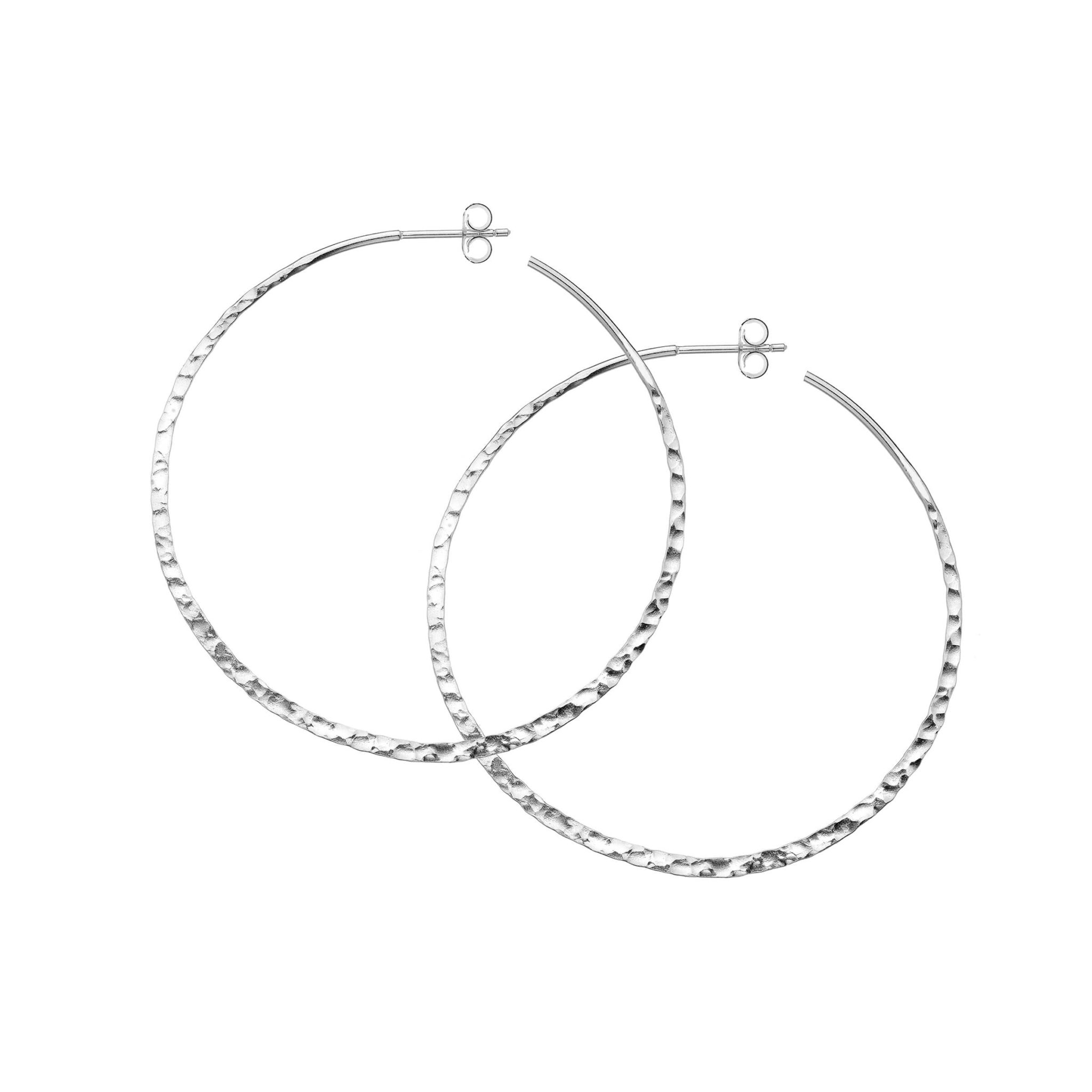 Large Circle Hoop Earrings