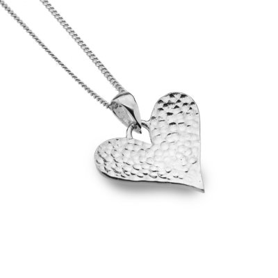 Hammered Love Heart Pendant