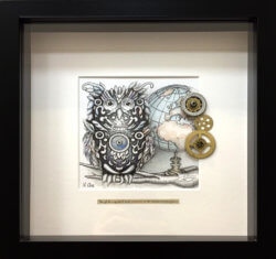 Northern Hemisphere Owl Karen Rae Original