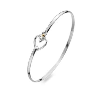 Silver Heart Detail Bracelet