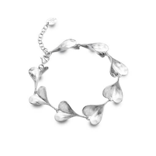 Silver Flowing Heart Bracelet
