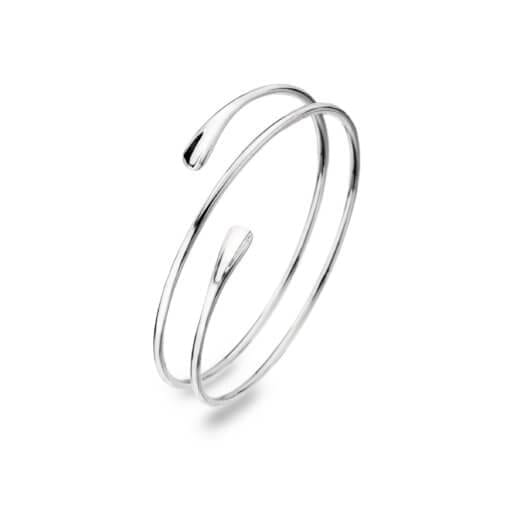 Silver Spiral Bangle