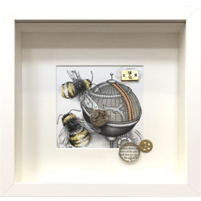 Two Bees by Karen Rae