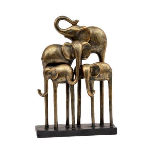Antique Bronze Group of Elephants
