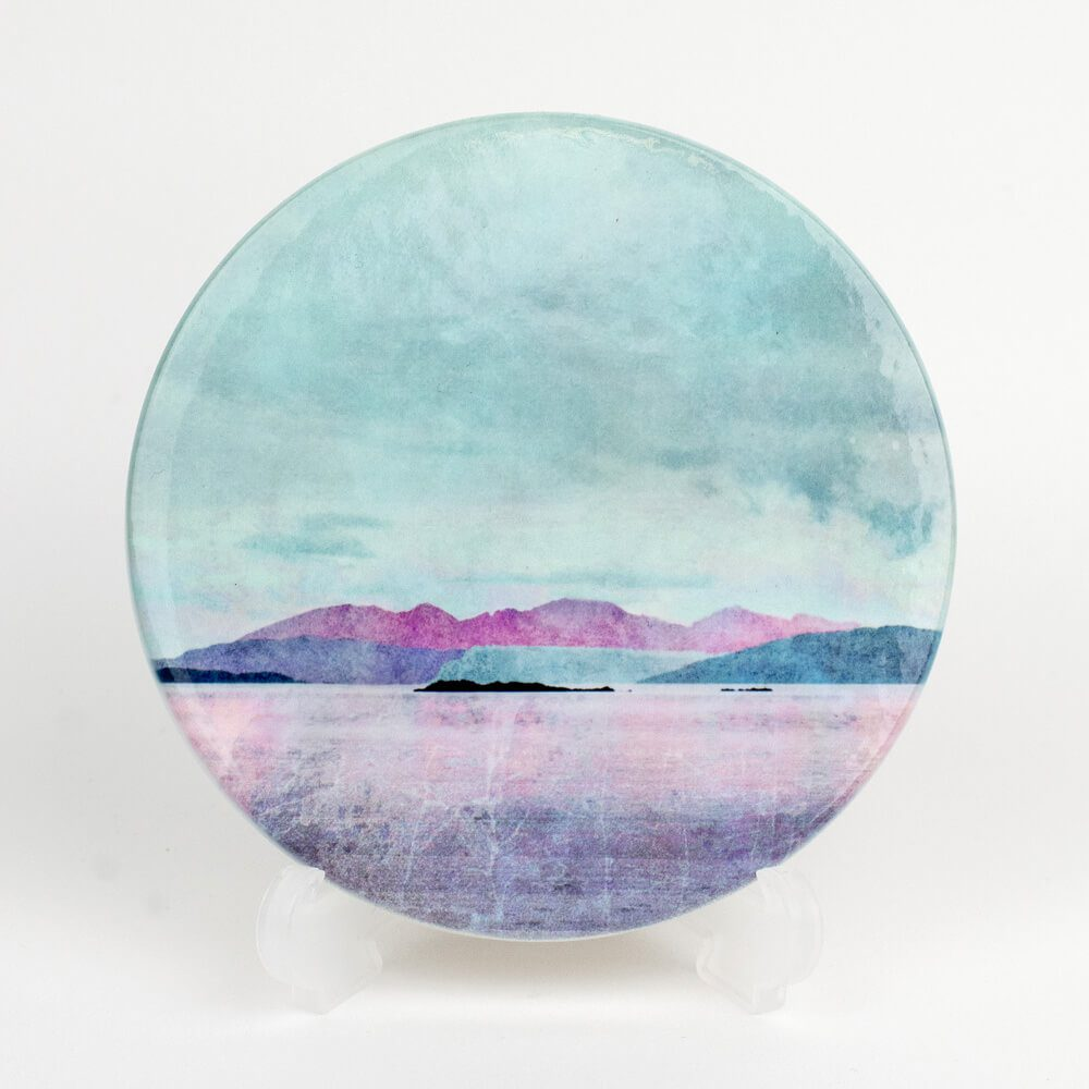 Arran over Sound of Bute Ceramic Coaster