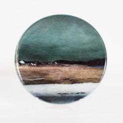 Salt Marshes Isle of Harris Ceramic Coaster