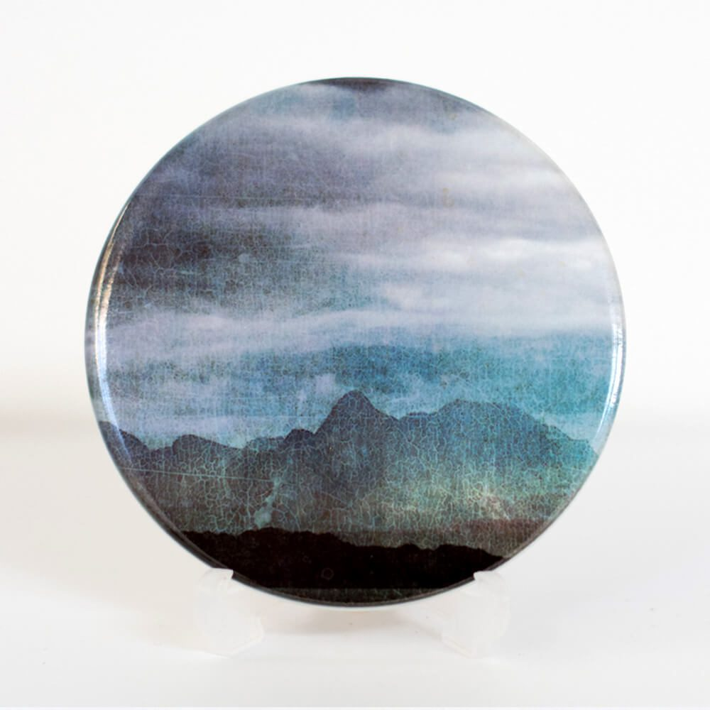 The Cuillins Skye v.1 coaster Cath Waters