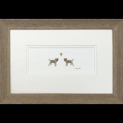 Border Terriers in Love by Penny Lindop