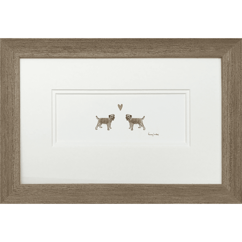 Border Terriers in Love by Penny Lindop