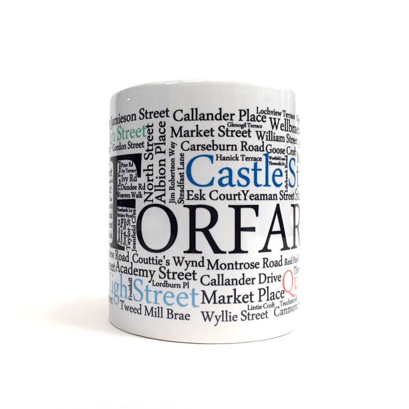 Forfar street name mug