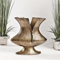 Gold Zip Vase