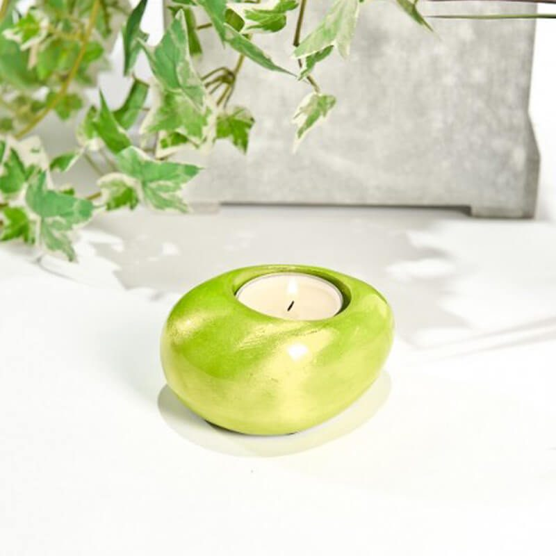 Pebble Tealight Holder Green
