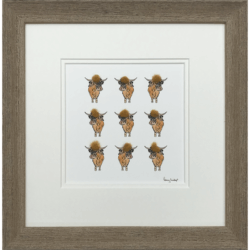 9 Highland Cows by Penny Lindop