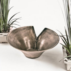 Gold Round Zip Bowl