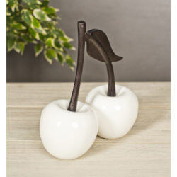 White Double Cherry with Black nickle stalk
