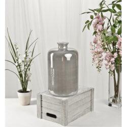 Grey Glass Vase