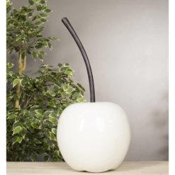 Medium White cherry with Black Nickel Stalk