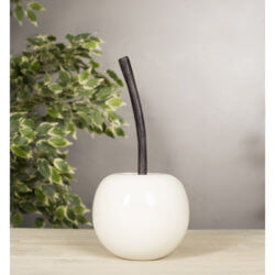 Small White cherry with Black Nickel Stalk