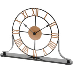 Round Skeleton Mantel Clock