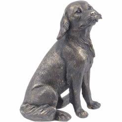 Antique Bronze Labrador Sculpture