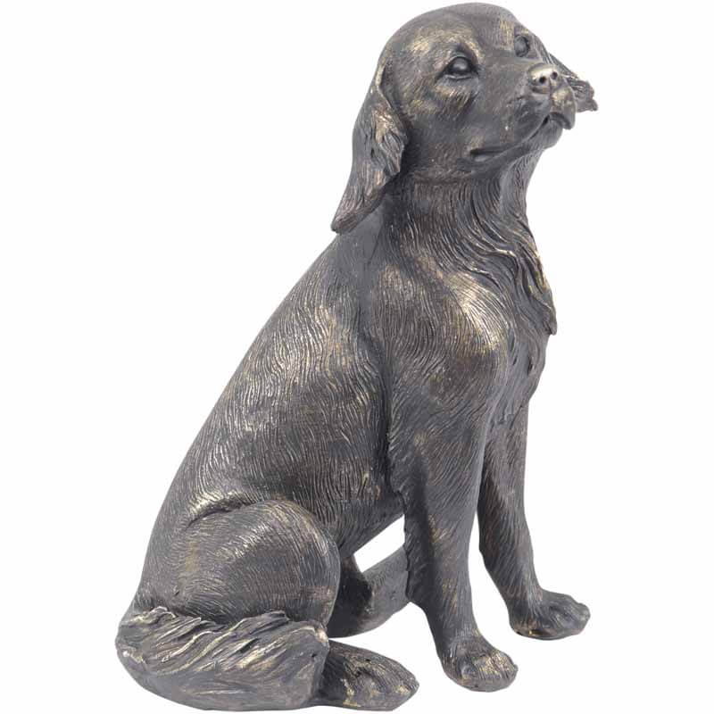 Antique Bronze Labrador Sculpture